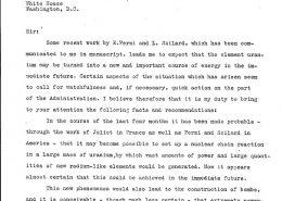 Albert Einsteins Brief an Königin Elisabeth von Belgien