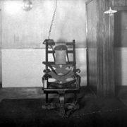 Bilde des ersten elektrischen Stuhls