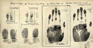 Erste Fingerabdrücke von William James Herschel 1859-1860