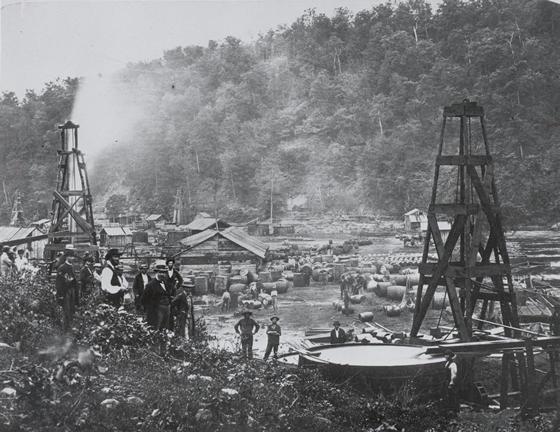 Frühes Ölfeld in Pennsylvania
