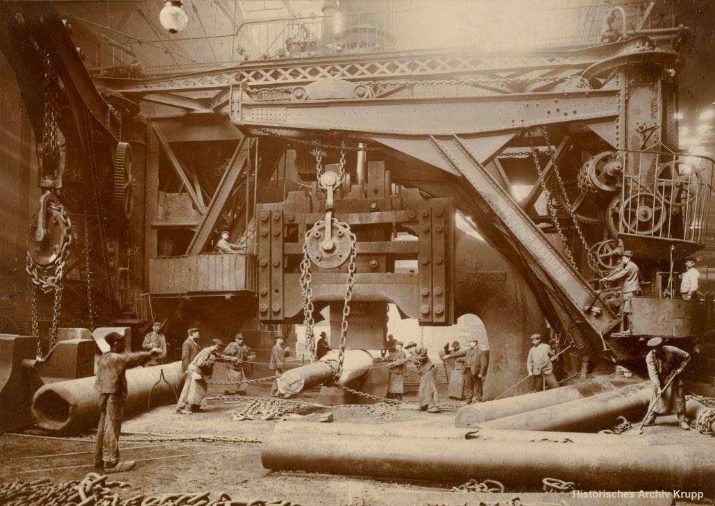 Die »letzte Schicht« des Dampfhammers »Fritz« im Jahr 1911