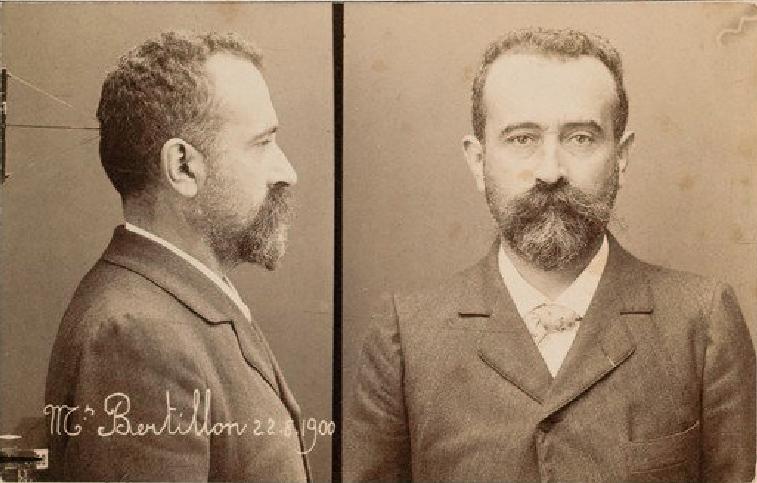 Selbstporträt von Alphonse Bertillon
